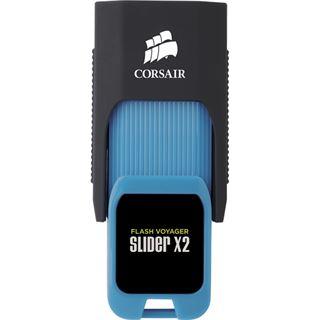 256 GB Corsair Voyager Slider X2 schwarz/blau USB 3.0