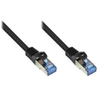 (€0,64*/1m) 50.00m Good Connections Cat. 6a Patchkabel S/FTP PiMF RJ45 Stecker auf RJ45 Stecker Schwarz halogenfrei/Rastnasenschutz