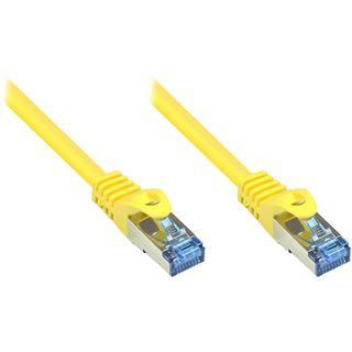 (€0,68*/1m) 50.00m Good Connections Cat. 6a Patchkabel S/FTP PiMF RJ45 Stecker auf RJ45 Stecker Gelb halogenfrei/Rastnasenschutz