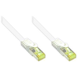 (€0,80*/1m) 60.00m Good Connections Cat. 7 Rohkabel Patchkabel S/FTP PiMF RJ45 Stecker auf RJ45 Stecker Weiß halogenfrei/Rastnasenschutz/vergoldet