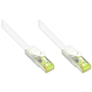 (€0,71*/1m) 90.00m Good Connections Cat. 7 Rohkabel Patchkabel S/FTP PiMF RJ45 Stecker auf RJ45 Stecker Weiß halogenfrei/Rastnasenschutz/vergoldet