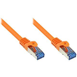(€0,79*/1m) 15.00m Good Connections Cat. 6a Patchkabel S/FTP PiMF RJ45 Stecker auf RJ45 Stecker Orange halogenfrei/Rastnasenschutz