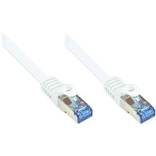 15.00m Good Connections Cat. 6a Patchkabel S/FTP PiMF RJ45 Stecker auf RJ45 Stecker Weiß halogenfrei/Rastnasenschutz