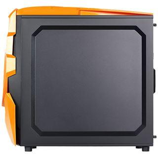 Raidmax Ninja II mit Sichtfenster Midi Tower ohne Netzteil schwarz/orange
