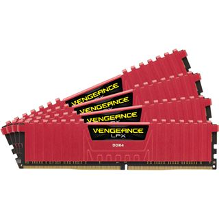 64GB Corsair Vengeance LPX rot DDR4-2133 DIMM CL13 Quad Kit