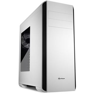 Sharkoon BW9000-W mit Sichtfenster Midi Tower ohne Netzteil weiss