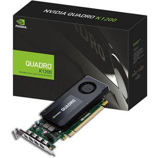 4GB PNY Quadro K1200 DP Aktiv PCIe 2.0 x16 (Retail)