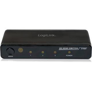 Logilink HDMI Switch 3 Eingänge 1 Ausgang 4K