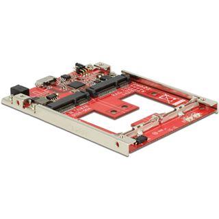 Delock Konverter USB 3.1 Micro B Buchse 2 mSATA Slots