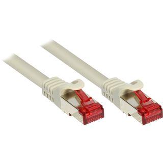 (€1,38*/1m) 5.00m Good Connections Cat. 6 Patchkabel S/FTP PiMF RJ45 Stecker auf RJ45 Stecker Grau PVC/Rastnasenschutz/vergoldet