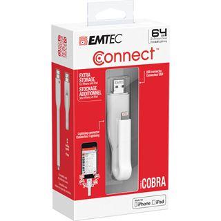 64 GB EMTEC iCobra 2 in 1 flash grau USB 3.0
