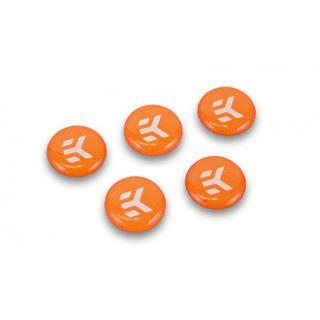 EK Water Blocks EK-Badge Aufkleber, Orange - 5 Stück