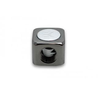 EK Water Blocks EK-AF T-Splitter 3x G1/4 female - schwarz vernickelt
