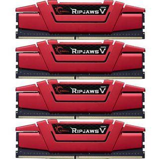 64GB G.Skill RipJaws V rot DDR4-2666 DIMM CL15 Quad Kit