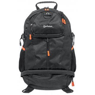 """Manhattan Notebook Rucksack Trekpack bis 17"""" schwarz/orange"""