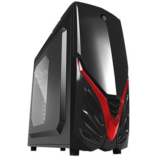 Raidmax Viper II mit Sichtfenster Midi Tower ohne Netzteil schwarz/rot