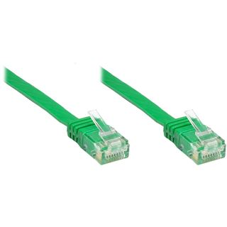 0.25m Good Connections Cat. 6 Patchkabel U/UTP RJ45 Stecker auf RJ45 Stecker Grün flach
