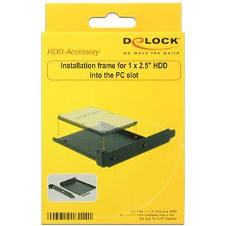 """Delock Einbaurahmen PCI Slot für 2,5"""" HDD Metall schwarz"""