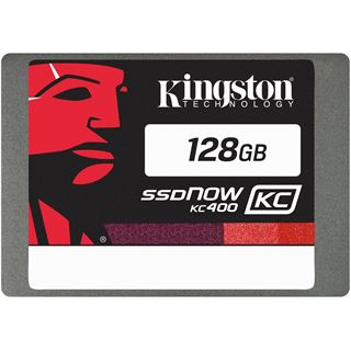 "128GB Kingston SSDNow KC400 2.5"" (6.4cm) SATA 6Gb/s MLC (SKC400S37/128G)"