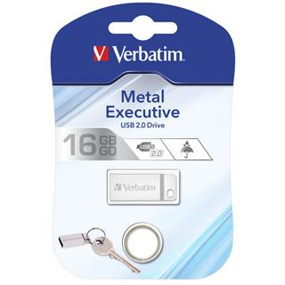 16 GB Verbatim Metal Executive silber USB 2.0