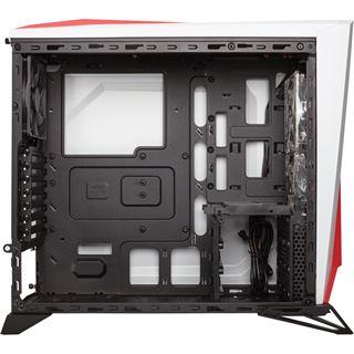 Corsair Carbide SPEC-ALPHA mit Sichtfenster Midi Tower ohne Netzteil weiss/rot