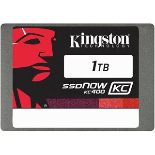 "1000GB Kingston SSDNow KC400 2.5"" (6.4cm) SATA 6Gb/s MLC (SKC400S37/1T)"