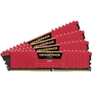 16GB Corsair Vengeance LPX rot DDR4-3200 DIMM CL16 Quad Kit