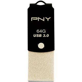 64 GB PNY Type-C to Type A UCD10 schwarz USB 3.0 und Typ C