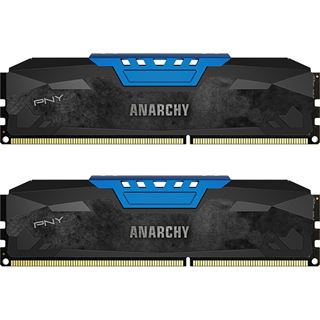 16GB PNY Anarchy blau DDR3-1866 DIMM CL10 Dual Kit