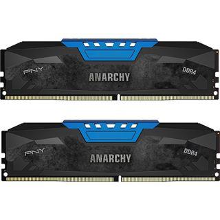16GB PNY Anarchy blau DDR4-2400 DIMM CL15 Dual Kit