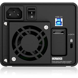 "ICY BOX Raidon GR3680-SB3 3.5"" (8,89cm) eSATA / USB 3.0 schwarz"