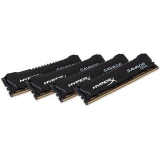 16GB HyperX Savage schwarz DDR4-2666 DIMM CL13 Quad Kit