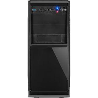 Inter-Tech GM-C15 Midi Tower ohne Netzteil schwarz