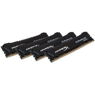 32GB HyperX Savage schwarz DDR4-2666 DIMM CL13 Quad Kit