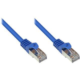 (€0,36*/1m) 25.00m Good Connections Cat. 5e Patchkabel SF/UTP RJ45 Stecker auf RJ45 Stecker Blau PVC/Rastnasenschutz