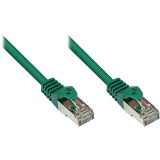 (€0,36*/1m) 25.00m Good Connections Cat. 5e Patchkabel SF/UTP RJ45 Stecker auf RJ45 Stecker Grün PVC/Rastnasenschutz