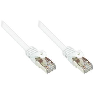 (€2,60*/1m) 1.50m Good Connections Cat. 5e Patchkabel SF/UTP RJ45 Stecker auf RJ45 Stecker Weiß PVC/Rastnasenschutz