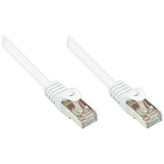 (€26,00*/1m) 0.15m Good Connections Cat. 5e Patchkabel SF/UTP RJ45 Stecker auf RJ45 Stecker Weiß PVC/Rastnasenschutz