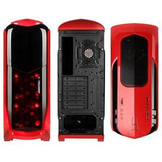 Kolink International Aviator mit Sichtfenster Midi Tower ohne Netzteil schwarz/rot