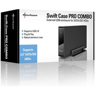 "Sharkoon Swift Case Pro Combo 3.5"" (8,89cm) USB 2.0 schwarz"
