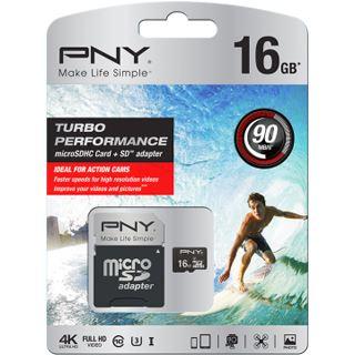 16 GB PNY Turbo microSDHC Class 10 U3 Retail