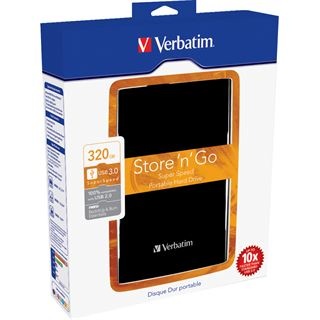 "320GB Verbatim Store and Go Portable 53120 2.5"" (6.4cm) USB 3.0 schwarz"