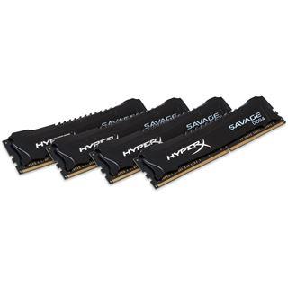 32GB HyperX Savage schwarz DDR4-2400 DIMM CL12 Quad Kit