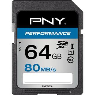 64 GB PNY Performance 80MB/s SDXC Class 10 U1 Retail