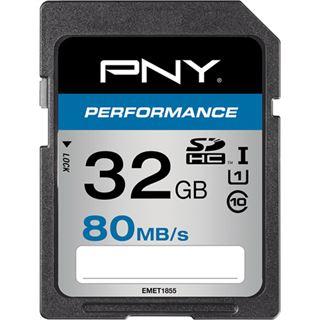 32 GB PNY Performance 80MB/s SDHC Class 10 U1 Retail