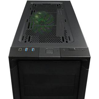 Nanoxia CoolForce 2 mit Sichtfenster Midi Tower ohne Netzteil schwarz