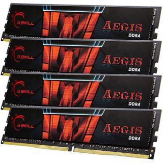32GB G.Skill Aegis DDR4-2400 DIMM CL15 Quad Kit