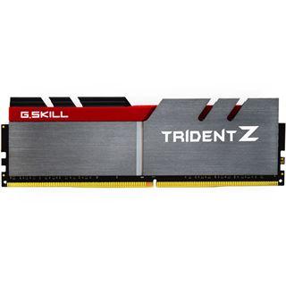 64GB G.Skill Trident Z silber/rot DDR4-3000 DIMM CL14 Quad Kit