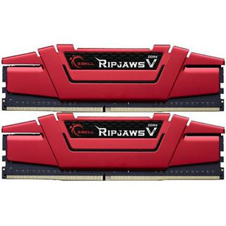 16GB G.Skill RipJaws V rot DDR4-3200 DIMM CL15 Dual Kit