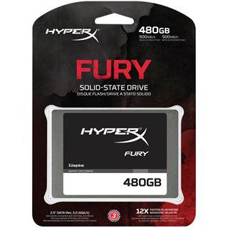 """480GB HyperX FURY 2.5"""" (6.4cm) SATA 6Gb/ MLC asynchron (SHFS37A/480G)"""